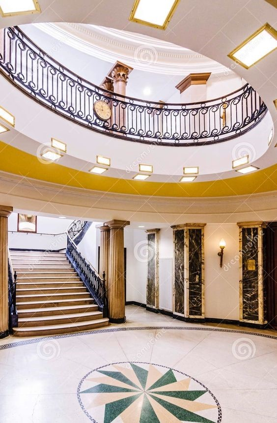 Spa Road, the Staircase in The Old Bermondsey Town Hall..jpg