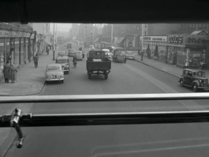 Film Salvage Gang 1958 Old Kent Road, Marcia Road left and further on the right-hand side the junction with Surrey Square. X.jpg