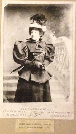 Louisa Jane Harradine, aged 22, born at 17 Paradise Street, London, in 1876. X.jpg