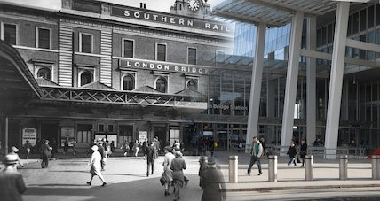 London Bridge Station, background c1930, right 2017.jpg