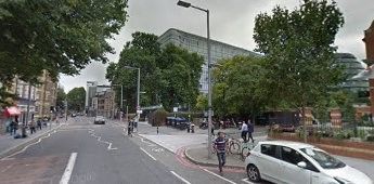Tooley Street from Tower Bridge Road. Potters Field on the right. 2017..jpg