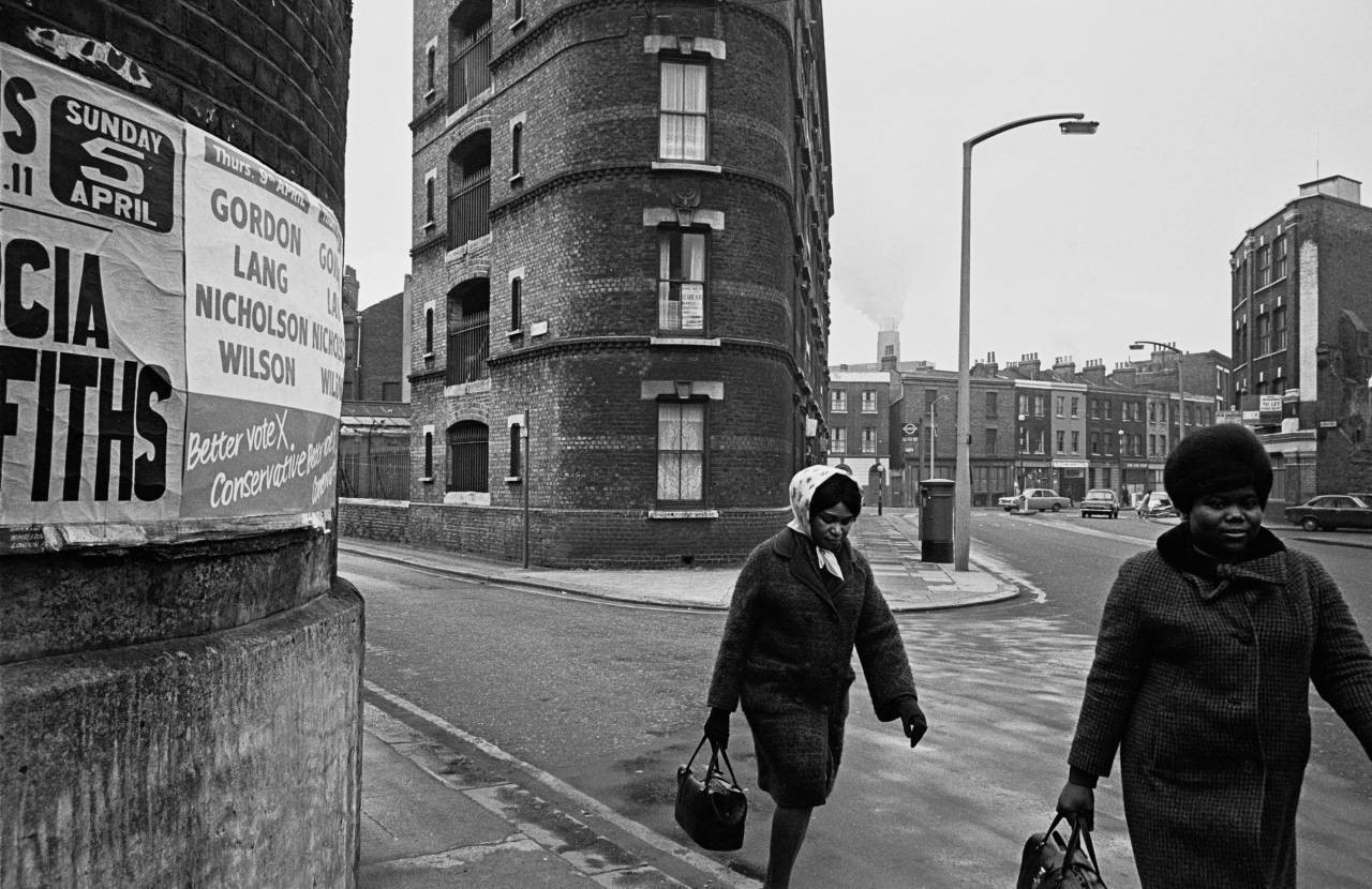 Marshalsea Road 1970.Quilp St left, Southwark Bridge Rd far end, Ayres St on right..jpg