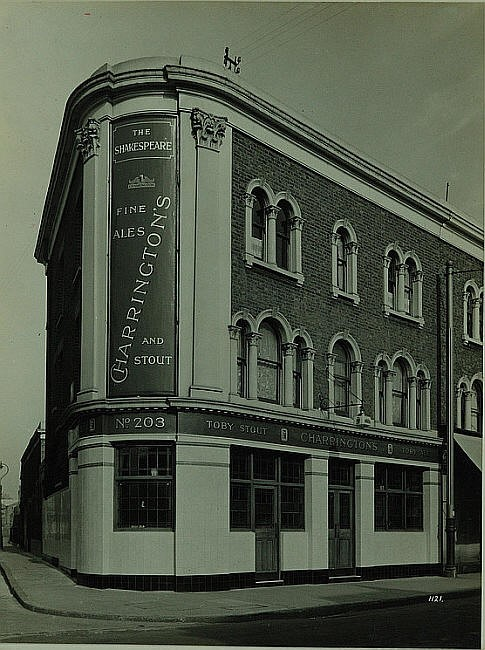 Southampton Way, Camberwell, 203.  The Shakespeare Pub.jpg