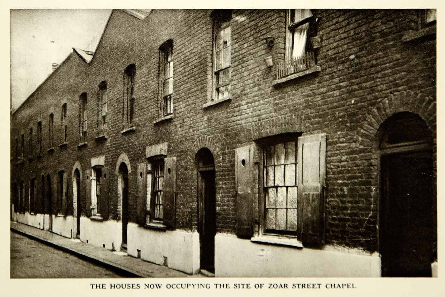 Zoar Street 1928, Rotogravure Houses Southwark, this is where John Bunyan regularly preached..jpg