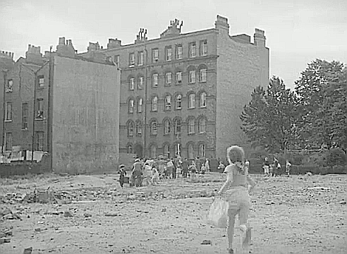 From the Film Adventure in the Hopfield's, 1954. Looking From Harper Road,Bath Terrace and Trinity House in the background..png