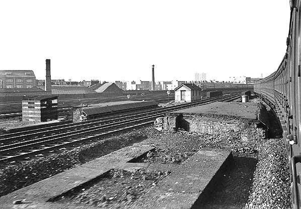 Spa Road Station seen from a passing train in October 1967..jpg