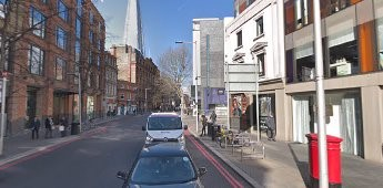Tooley Street 2018, looking towards London Bridge, Vine Lane on the right.jpg