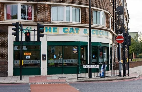 Tower Bridge Road corner Druid Street. The Cat & Cucumber Cafe.jpg