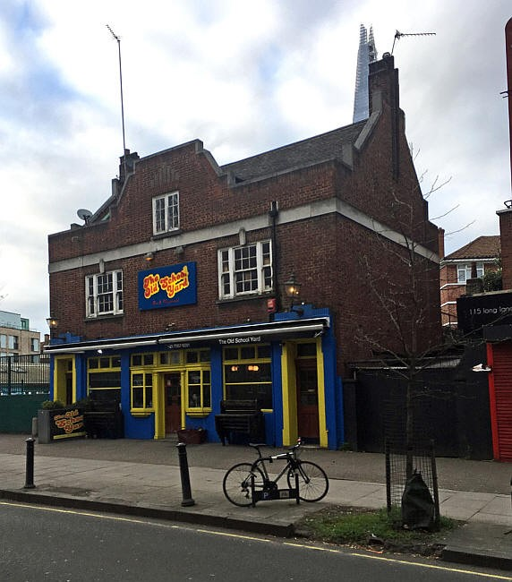 Long Lane, Bermondsey The George, 2018 Now a bar called The Old School Yard..jpg