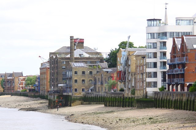 The Thames facing Princes Tower,which at some point seems to have been renamed Riverside Apartments, sits on the site of the old Princes Wharf and Prince's Stairs. at the start of Elephant Lane..jpg