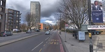 Jamaica Road corner of George Row.Roughly the same location 2018..jpg