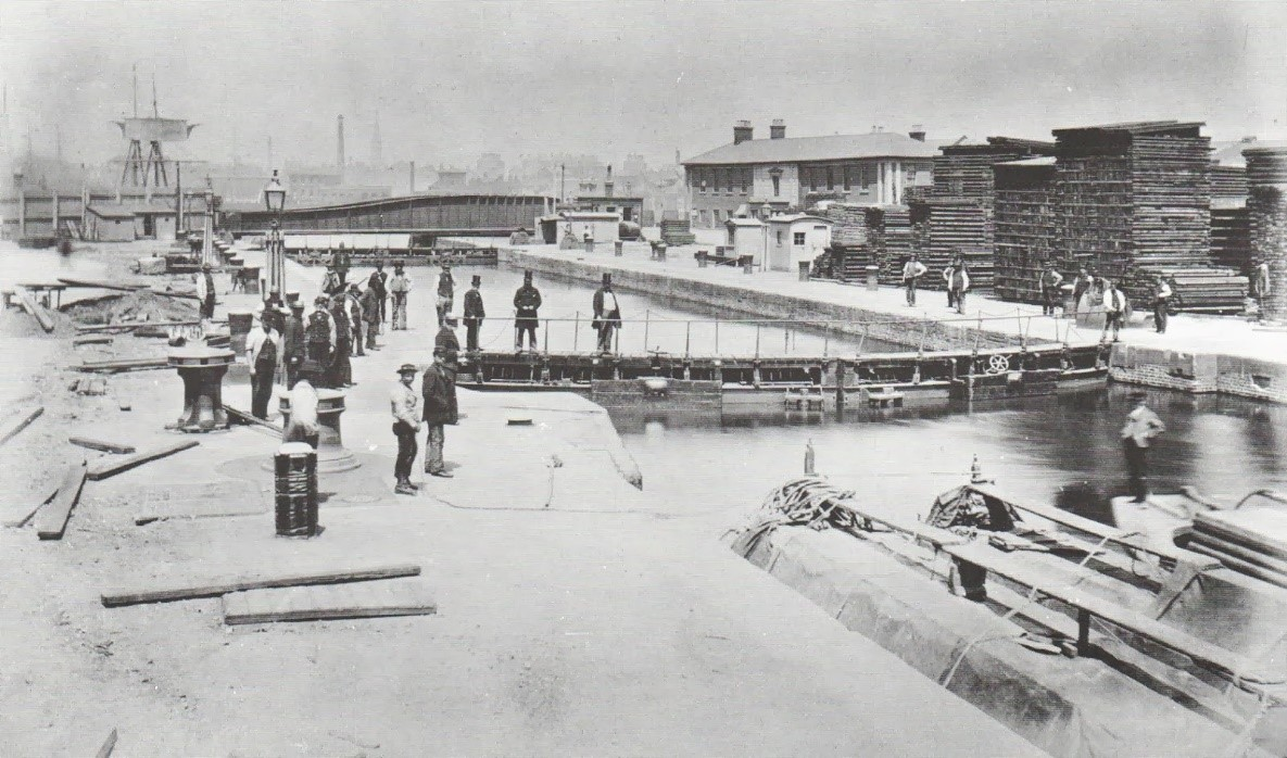 Surrey Dock at Surrey Basin at the time of.jpg