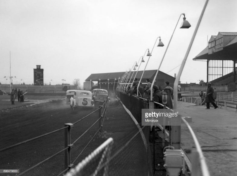 Hornshay Street, Old Kent Road. New Cross Stadium, Stock Car Racing, practice session.jpg