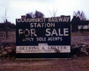 Goudhurst Railway Station Site was sold at auction on Friday 7 July 1967. A house now stands on the site..jpg