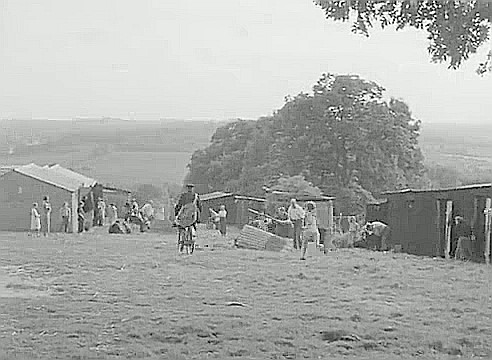 Hopper Huts, temporary housing for hop pickers, line the field at Trigg's Farm on Cranbrook Road, Goudhurst..jpg