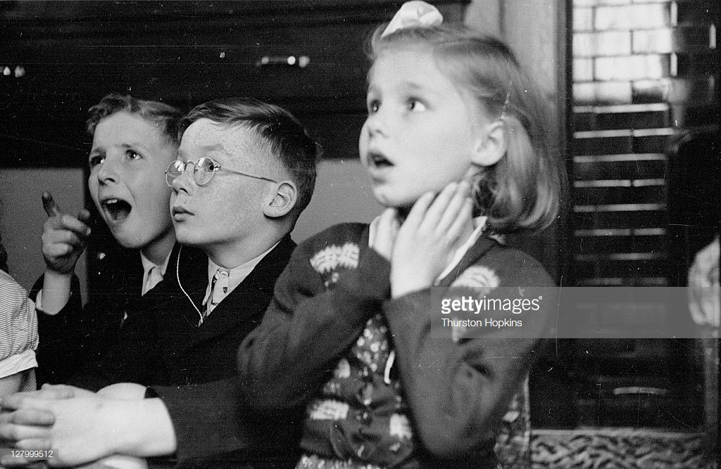 Old Kent Road,19th September 1953, Pat Walker, David Warner and Barry Hilton are pupils attending a school for the deaf in the Old Kent Road.jpg