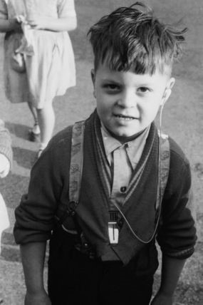 Old Kent Road 1955 A young pupil at the Old Kent Road London County Council School for the Deaf..jpg