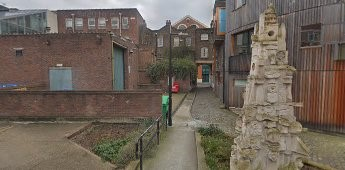 Bermondsey St at far end of the alley, Carmathen Place,this is from Tyers Estate. The Shared, Austin Emery 2014..jpg