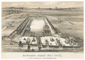 Howlands Dock in the parish of Rotherhithe (c.1850) X.jpg