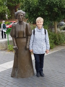 Mary Gibson.I meet my heroine! A statue of Ada Salter which stands by the river not far from the Bermondsey Settlement where she first worked in Bermondsey. c2018.jpg