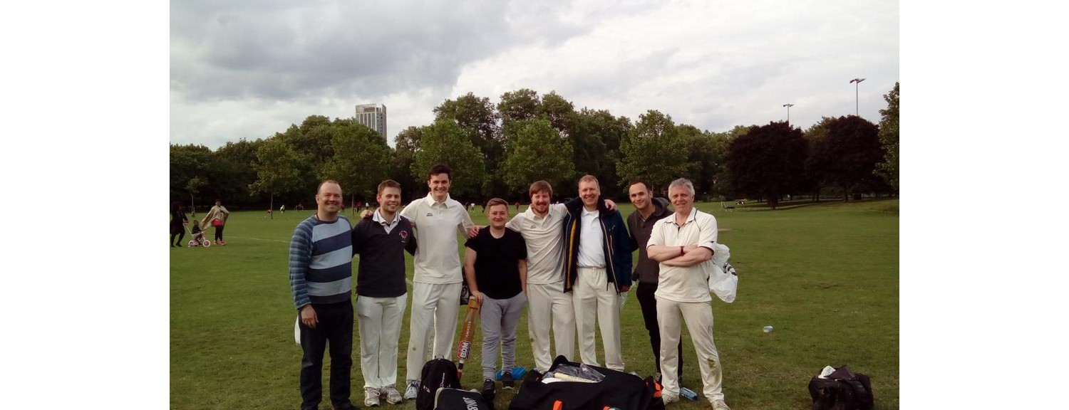 Southwark Park Cricket Club, still going strong, Bobby Abel would have been proud. c2017.jpg