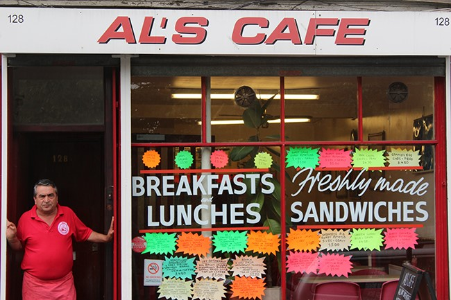 Bermondsey Street, Al's Cafe has won the South of the River photo competition run by the National Portrait Gallery c2017..jpg