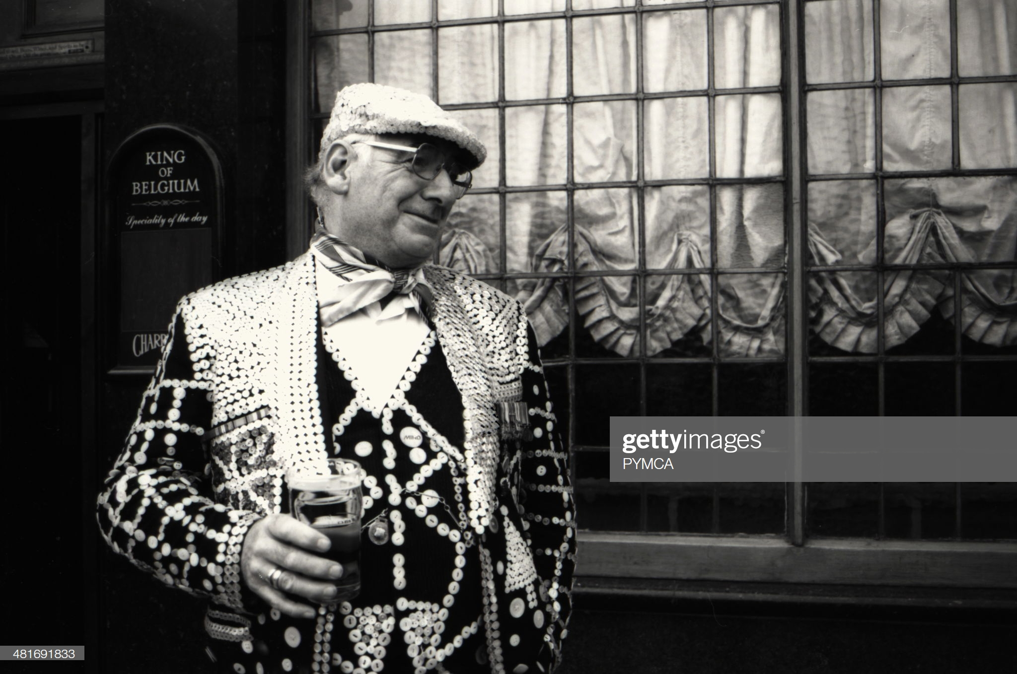 Pearly King, Tooley Street, Southwark, London. 1995.  X.png