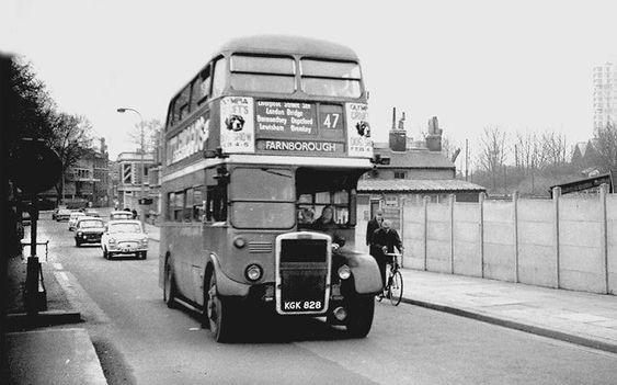 Lower Road, Rotherhithe with Southwark Park on left and China Hall Pub on right 1966.  X.jpg