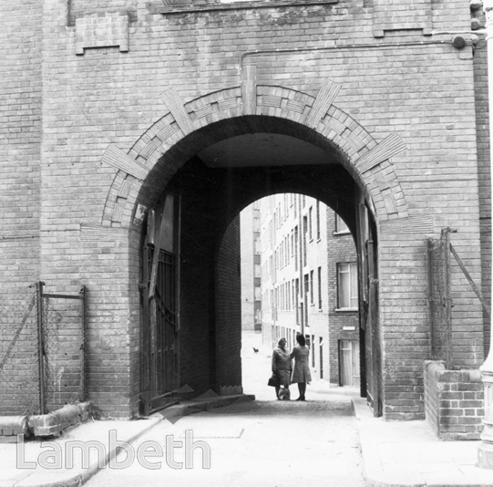 Coin Street entrance way to Edward Henry House. X.png
