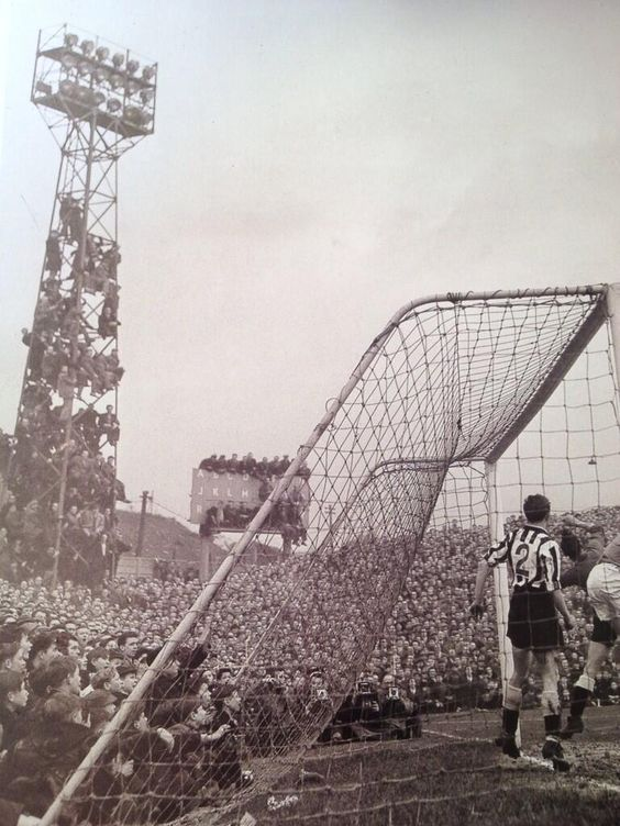 Millwall take on Newcastle at The Den, 1957.  X.png