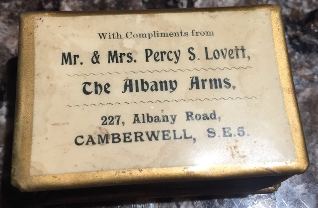 Albany Road. The Albany Arms. 1921- 1938.  X.png