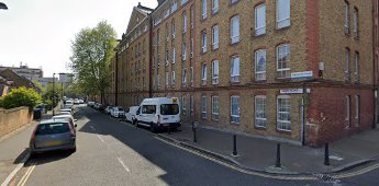 Swan Road looking from Rotherhithe Street. Winchelsea House on right. 2019.  X.png