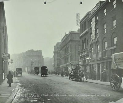 Tooley Street, looking west by London Bridge Station, Bunch of Grapes public house right.   X.jpg