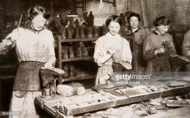 Women working in a boot repair factory in Old Kent Road, WW1,1914-1918   X.jpg