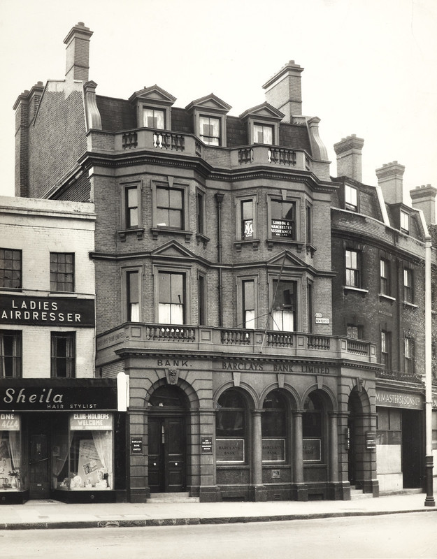 New Kent Road,Bricklayers Arms,1954, more or less opposite the Library.  X..png