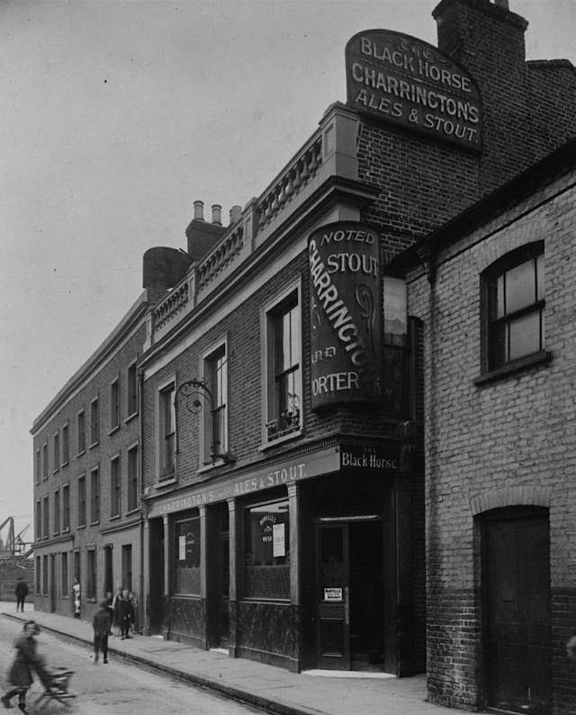Odessa Street,Rotherhithe,the Black Horse, This pub closed c.1925.  X.png