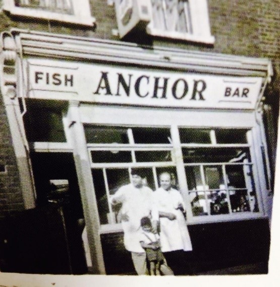 Blue Anchor Lane fish shop 1960s.  X.jpg