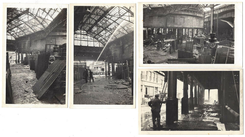 Borough Market, Southwark Aftermath of  Market Fire 1939.  X.png