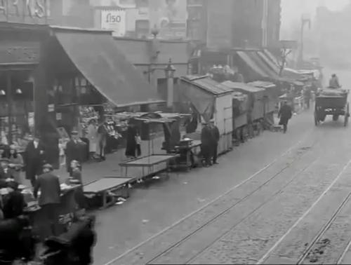Tower Bridge Road Market (1931) looking toward trocettte  young stores onleft - Copy.jpg