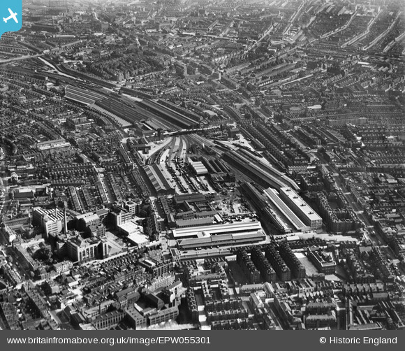 The Bricklayers Arms Goods Depot, Bermondsey, 1937. Looking towards New Cross.  X.png