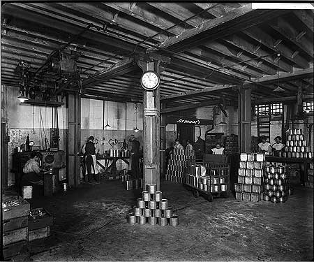 Tooley Street, Armour and Company, view of the lacquering and soldering room at the warehouse.   X.png