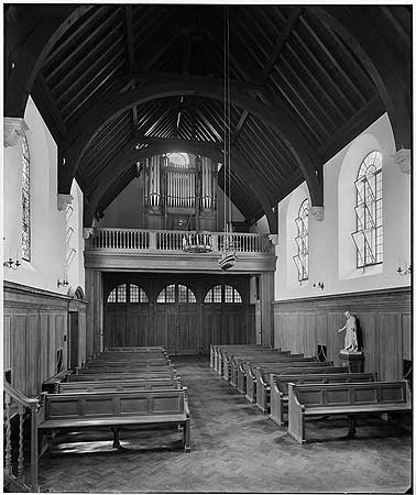 Albion Street, the interior of the Norwegian Church (St Olav's Church) c1927.  X.png