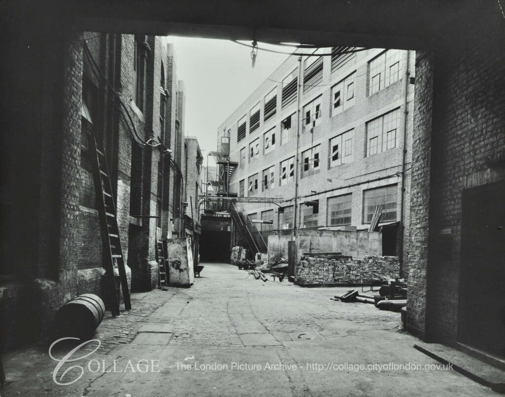 The Grange, rear yard of the Grange Tannery, c1959.  X.png