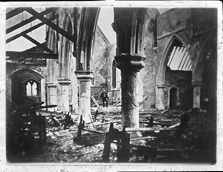 Surrey Square, The interior of All Saints Church after the fire of 1869.   X.png