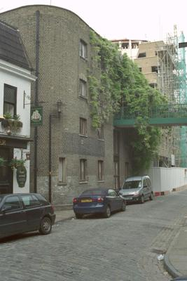 Rotherhithe Street, Grices Wharf 2001. Mayflower Pub left.  X.png