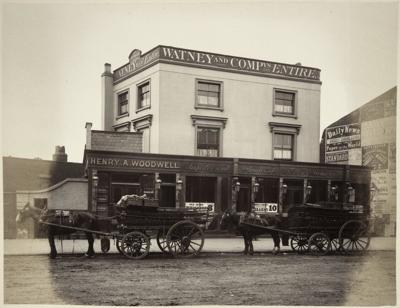Waterloo Road, The George Pub, c1880, The landlord being Henry A Woodwell.   X.png
