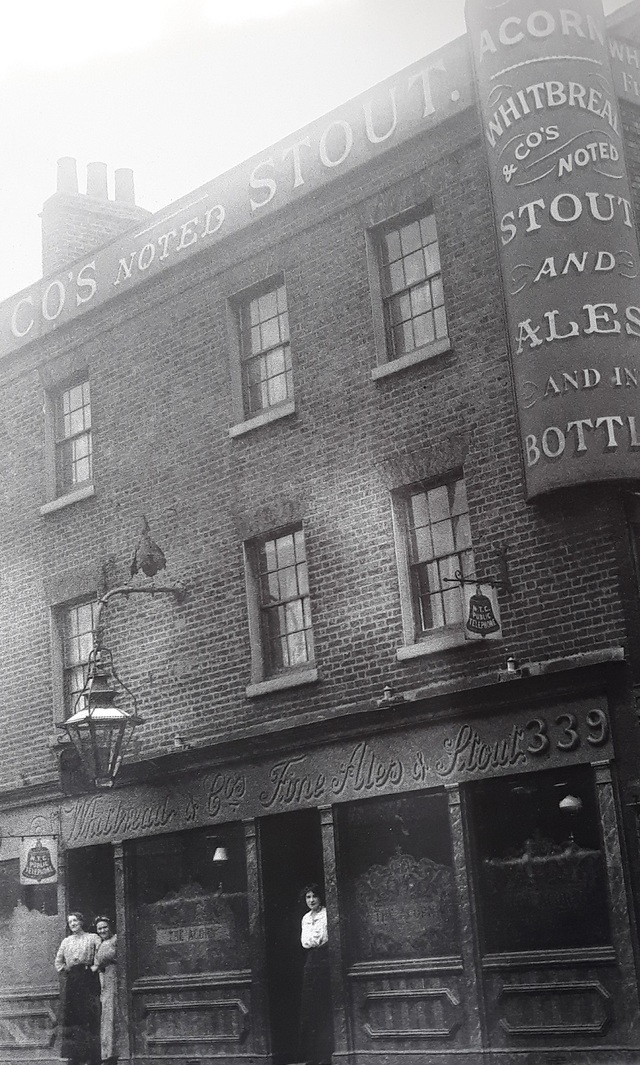 Rotherhithe Street, The Acorn Pub. This pub closed in 1942 and has now been demolished. I think this was near Canada Wharf.     X.png