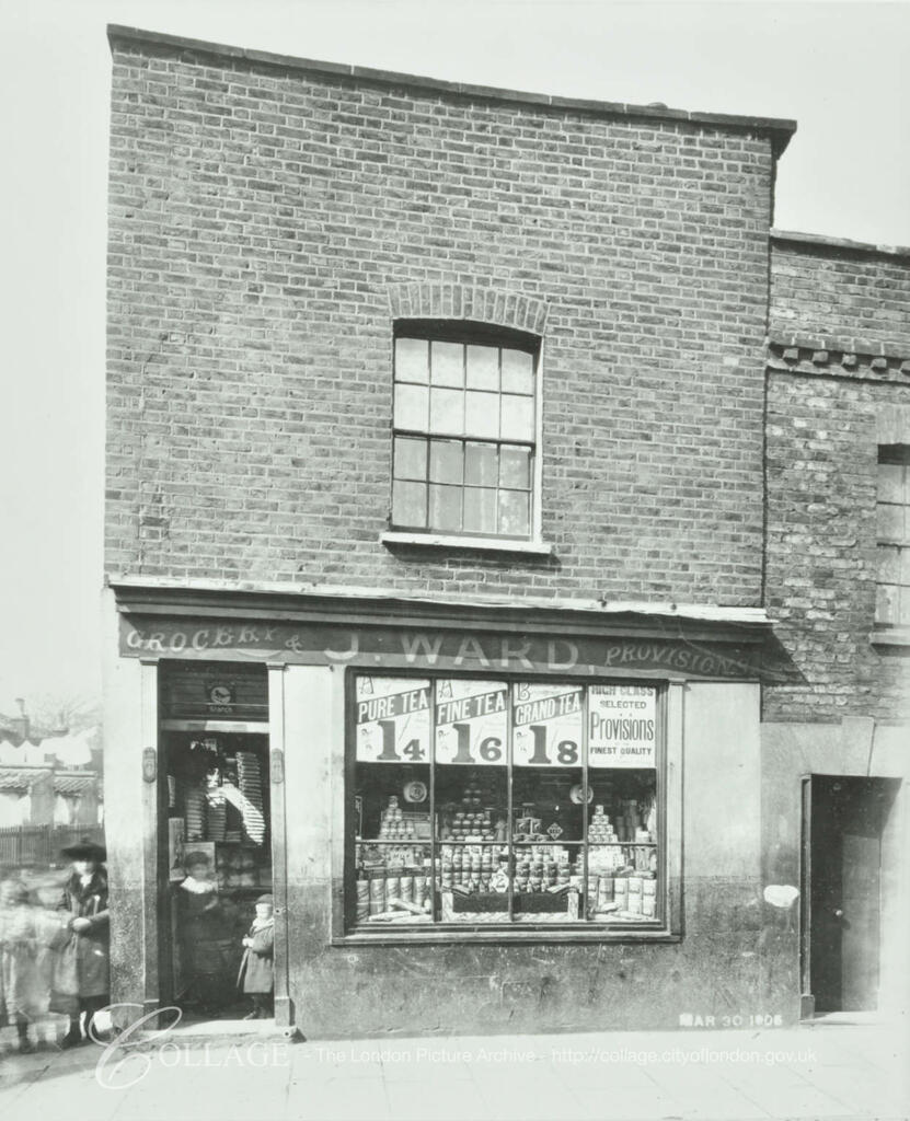 Adam Street, Rotherhithe c1904, Building later demolished during the construction of the Rotherhithe Tunnel.   X.png