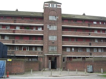 Old Jamaica Road, Bermondsey, Giles House before It was demolished.   X.jpg
