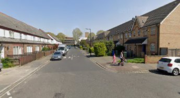 Collett Road 2019. Storks Road Right, same location as the 1971 picture, looking towards St James Road.   X.png
